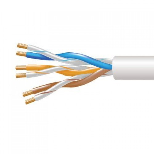3 Pair White Telephone Cable